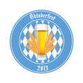 Beer abstract oktoberfest label on white background Stock Images