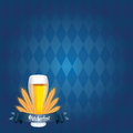 Beer abstract and oktoberfest text on special blue background Stock Photo