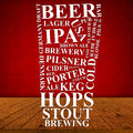 Beer ad poster menu background Stock Photography