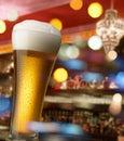 Beer at bar counter Royalty Free Stock Photo
