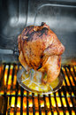 Beer Barbecued Chicken Stock Photo