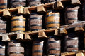 Beer barrels Royalty Free Stock Photo