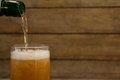 Beer being poured into a glass Royalty Free Stock Photo