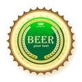 Beer, bottle cap Royalty Free Stock Photo