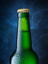 Beer bottle of clipping path Royalty Free Stock Photo
