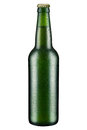 Beer bottle with drops isolated Stock Photography