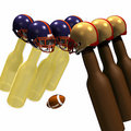 Beer Bottle Football 2 Royalty Free Stock Images