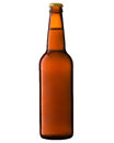Beer bottle isolated on white background clipping path Stock Image
