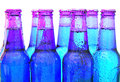 Beer bottles covered with drops Royalty Free Stock Images