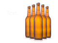 Beer bottles on white is cool Stock Photo