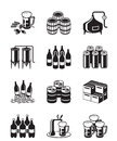 Beer and brewery icon set Royalty Free Stock Photo