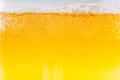 Beer bubbles in the high magnification and close up an image of Stock Photography