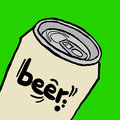 Beer can creative design of Royalty Free Stock Photos