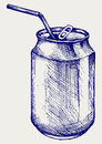 Beer can vector doodle style Stock Image