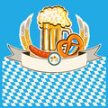 Beer card vector bavaria background for text Stock Photography