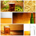 Beer collage Royalty Free Stock Image
