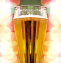 Beer with colorful lights Stock Photography