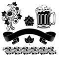 Beer design elements Royalty Free Stock Photos