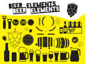 Beer design elements Royalty Free Stock Photo