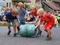 Barrel rolling race Royalty Free Stock Photo