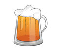 Beer drawing of a mug of Royalty Free Stock Photography