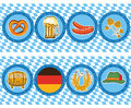 Beer elements with oktoberfest symbol vector label Stock Photos