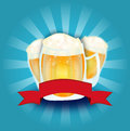 Beer fest background Royalty Free Stock Photo