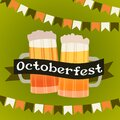 Beer festival Oktoberfest party celebration concept lettering greeting card or flyer horizontal banner or poster Royalty Free Stock Photo