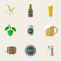 Beer flat icons for web and mobile applications Royalty Free Stock Photos