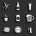Beer flat icons for web and mobile applications Royalty Free Stock Image