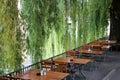 Beer Garden at Riverside Royalty Free Stock Photo