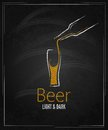 Beer glass chalkboard menu background Stock Photos