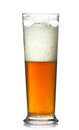 Beer glass full of cold lager. Royalty Free Stock Photo