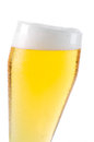 Beer into glass isolated on white Royalty Free Stock Images
