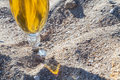 Beer glass on the sand Royalty Free Stock Photo
