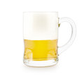 Beer glass of on a white background Royalty Free Stock Images
