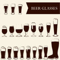 Beer glasses pub bar symbol Stock Photos