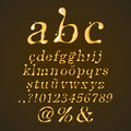 Beer honey and caramel alphabet lower case italic that can be used in jobs related to the Royalty Free Stock Photography