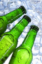 Beer in ice! Stock Photo