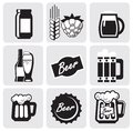 Beer icons Stock Images