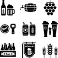 Beer icons Stock Photos