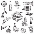 Beer icons set Royalty Free Stock Photos
