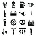 Beer icons set, simple style Royalty Free Stock Photo