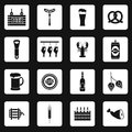 Beer icons set in simple style Royalty Free Stock Photo