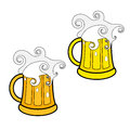 Beer isolated object on white background vector illustration eps Royalty Free Stock Images