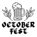 Beer jar with lettering oktoberfest celebration icon Royalty Free Stock Photo