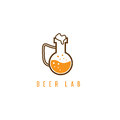 Beer lab concept with flask vector design