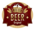 Beer label Royalty Free Stock Photography