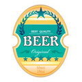 Beer label design Stock Photography
