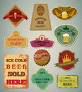 Beer labels Royalty Free Stock Images